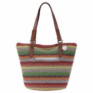 The Sak Crochet Double Handle Shopper Tote alpine